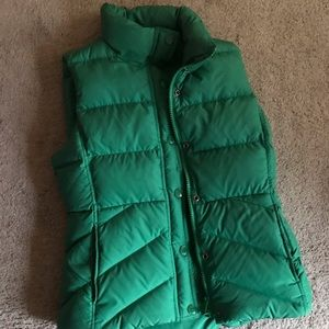 J. Crew Puffer Vest with Sherpa Lining